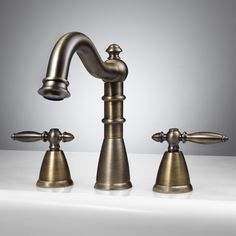 Dolce Roman Tub Faucet with Lever Handles - Antique Brass