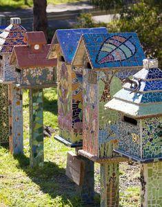 Birdhouses Mosaic Casitas