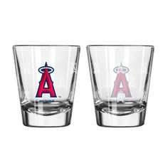 Los Angeles Angels Shot Glass - 2 Pack Satin Etch