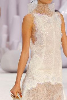 CHANEL  Gorgeous white  evening dress