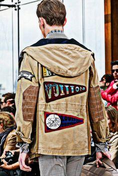 Louis Vuitton SS14, París Fashion Week.  patch