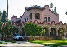 Redlands  Home--Olive Avenue: Built by William F. Holt, a developer and banker,  in the Mission Revival Style, 1902.