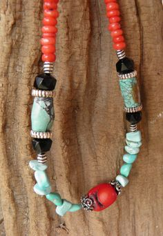 Coral Classic  Southwestern Inspired Turquoise by TridentsTreasure, $115.00