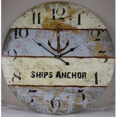 Nautical clocks. From traditional to shabby chic. They make a statement.
