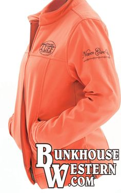 Only a few of these left! @cowgirltuffco Orange Microfiber Jacket, Never Give Up, Winter Apparel, Rodeo, Cowgirl Tuff, Country Girl, $149.99, http://bunkhousewestern.com/1006