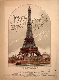 Vintage music cover.                                         Paris #France #Paris