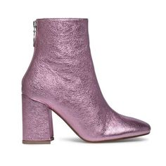 Sacha | Ankle boots | Metallic | Pink | More on Fashionchick.nl