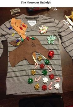 Diy Ugly Christmas Sweater Ideas, Ugly Christmas Sweater Contest Ideas, Ugly Christmas Sweater Kit Ideas, Make an Ugly Christmas Sweater Ideas #BestUglyChristmasSweaterIdeas,#FunnyUglyChristmasSweaterIdeas,#CreativeUglyChristmasSweaterIdeas,#UglyChristmasSweaterOutfitIdeas