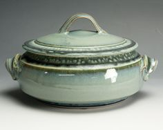 Handcrafted stoneware casserole serving dish 1.5 by BlueParrotPots, $48.00