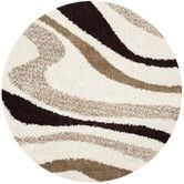 Found it at Wayfair - Ivory/Brown Shag Area Rug