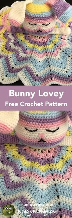 I don't know about you, but I love to crochet gifts for new babies. There's just something so personal and special about making an item especially for that Crochet Security Blanket, Crochet Lovey, Cute Crochet, Baby Blanket Crochet, Crochet For Kids, Crochet Crafts, Crochet Dolls, Crochet Yarn, Crochet Projects