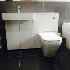 A very happy customer with their completed bathroom installation. Bathroom Fitters, Bathroom Installation, Toilet, Happy, Litter Box, Ser Feliz, Happiness, Toilets, Powder Rooms