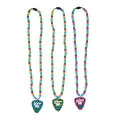 100th Day of School Rock Star Necklace Craft Kit - OrientalTrading.com