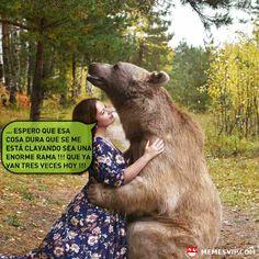 'Meme oso vicioso' de memesVIP.com. Este oso es más cariñoso de lo que nadie se puede imaginar, si no me crees pregúntale a ella.