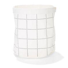 kmart   washable paper bag. grid