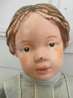 Sensational Schoenhut Doll with Carved Hair in Original Outfit