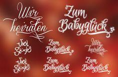 typografische Effekte und Schriftvorlagen