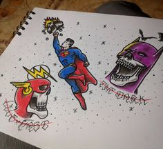 Comic flash tattoo traditional #traditional #tattoos #tatuajes #sebastorrestattoos #theflash #batman #superman #dccomics