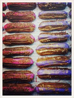 Pink and purple eclair at Bottega Louie in Downtown Los Angeles, CA