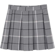 Melina skirt (39 PAB) ❤ liked on Polyvore featuring skirts, bottoms, pink pleated skirt, checkered skirt, checked skirt, pink skirt and pink mini skirt