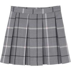 Melina skirt (€34) ❤ liked on Polyvore featuring skirts, bottoms, pleated skirt, zipper mini skirt, checkerboard skirt, pink mini skirt and zipper skirt