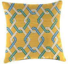 Jordan Outdoor Throw Pillow Set Manufacturing Multi-colored Summer Yellow Beach Blue Bone