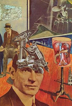 collage / photomontage by Raoul Hausmann founding member of the Dada Art Movement Tristan Tzara, Kurt Schwitters, Dada Collage, Art Du Collage, Collage Artists, Collages, Harlem Renaissance, Photomontage, Hannah Höch