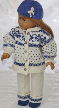 knit american girl doll clothes with gorgeous knitting patterns for 18 american girl dolls Knitting Dolls Clothes, Ag Doll Clothes, Knitted Dolls, Doll Clothes Patterns, Clothing Patterns, Knitted Baby, Doll Patterns, American Doll Clothes, Baby Knitting Patterns