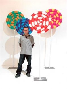 Party CANDY LAND lollie pops ((pool noodles and colord duct tape)) (SO EASY & SIMPLE BUT THE KIDDOS/TEENS WILL LOVE IT)