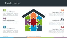 Större - Multipurpose PowerPoint Template - Puzzle House Diagram