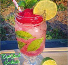 Mojito 1.5 Bacardi Rum 1/2 oz Chambord 1/2 oz simple syrup 4 oz Lemon ...