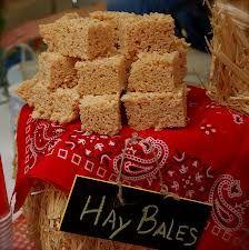 rice krispy hay bales! - Craves it table?