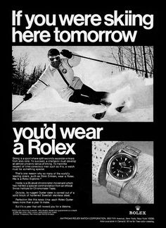 Welcome To RolexMagazine.com...Home Of Jake's Rolex World Magazine..Optimized for iPad and iPhone: 1962 Stein Eriksen Rolex Explorer Skiing ...