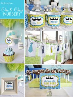 little man mustache bash...cute baby shower theme :)