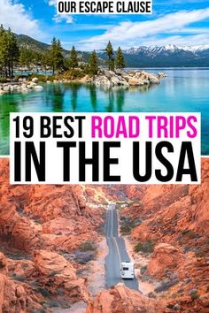 Looking for the best USA road trips? Whether you're searching for national parks or adorable small towns, beaches or deserts, weekend getaways or months-long excursions, there's an American road trip here for you! best road trips in usa Us Road Trip, Road Trip Hacks, Usa Travel Guide, Travel Usa, Travel Diys, Travel Guides, Voyage Usa, Laos, Las Vegas