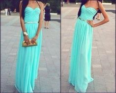 LOVE!! Turquoise maxi dress...