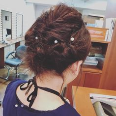 Hair arrangement to go to the wedding ceremony💒 #結婚式#ヘアアレンジ#ヘアセット#ボブアレンジ#ボブ #アップスタイル#instapic#instagood #instadaily #instagram #hairstyle #hair#Hairarrangement#upstyle#bobarrange #Hairdresser