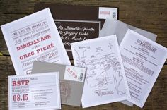 invitations but in black and pink