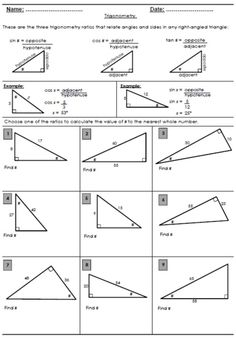 trigonometry worksheets math teacher trigonometry worksheets trigonometry gcse foundation. Black Bedroom Furniture Sets. Home Design Ideas