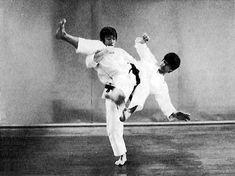 Ushiro geri, gyaku ude uke, kiba dachi hidari ashi barai sukui nage, gyaku otoshi zuki Martial Arts, Wrestling, Lucha Libre, Combat Sport, Martial Art