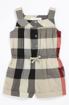 Burberry 'Rosemarie' Coveralls (Infant) available at Nordstrom