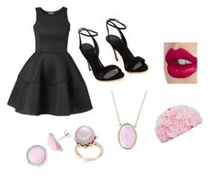 """Black and Pink"" by nmackie03 ❤ liked on Polyvore featuring Betsey Johnson, Charlotte Tilbury and Bling Jewelry"