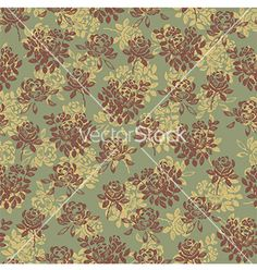 Flower pattern green vector - by Shlapak_Liliya on VectorStock®