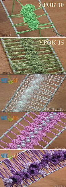 Crochet Infinity Scarf Cowl Neck Warmer Free Patterns & Ins Hairpin Lace Patterns, Hairpin Lace Crochet, Freeform Crochet, Crochet Motif, Irish Crochet, Crochet Flowers, Knit Crochet, Crochet Stitches Patterns, Knitting Patterns