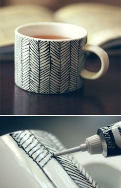#tasse #mug (vía Creative work is play / Ceramic Paint)