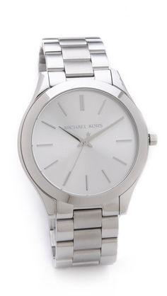 Michael Kors Silver Slim Runway Watch