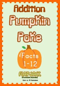 This is a fun, hands-on game that will encourage students to practice and master addition facts 1-12 during the fall season. Enjoy!FlapJack Educa...