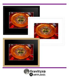'Roulette Wheel' Wall Decor at Artflakes! by #Gravityx9 Designs ~ #LasVegasIcons -  Wall Decor for your game room or man cave!  This Roulette Wheel image is available on wall posters, canvas prints, framed art and greeting cards.