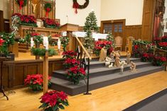 Atlanta church Christmas wreath garland … | church decorating ideas ...