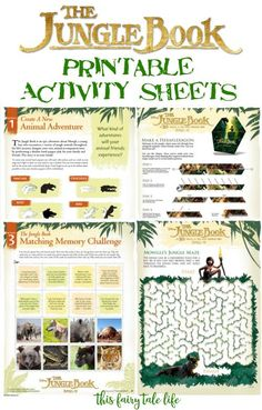 The Jungle Book Printable Activities